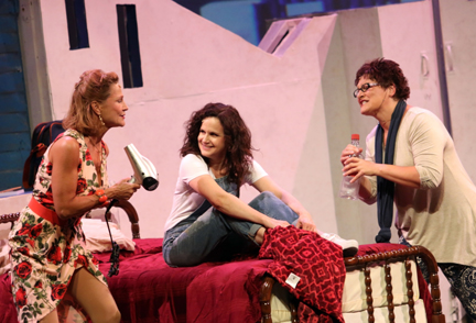 "Jayne Lewis (Tanya), Cara Hunter (Donna), & Denise Oucharek (Rosie) in ""Mamma Mia!"" (courtesy of the Capitol Theater)."