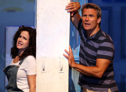 "Cara Hunter (Donna) & Kent Sheridan (Sam) in ""Mamma Mia!"" (courtesy of the Capitol Theater)."