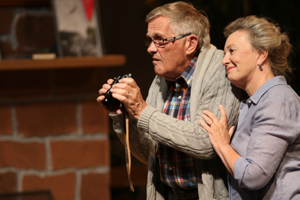 "Norman (John Winkworth) & Ethel (Jennie Ryan) Thayer in the Capitol Theater production of ""On Golden Pond."""