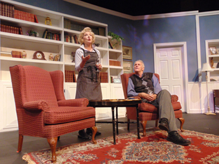 "Patricia Vanstone & Norm Foster in ""On a First Name Basis"" (photo courtesy of the Capitol Theater)"