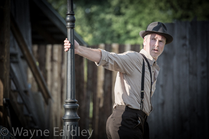 "Ryan Hollyman in ""The Hero of Hunter Street"" (photo by Wayne Eardley)."