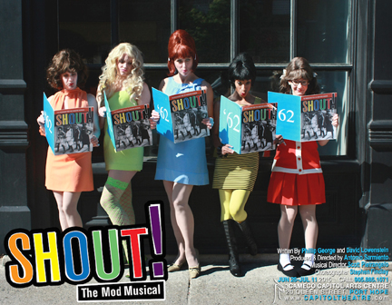 "The cast from ""Shout!"" (photo by Carmen Amini)."
