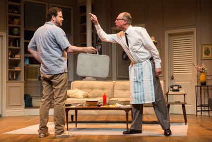 "Albert Schultz & Diego Matamoros in ""The Odd Couple"" -- photo by Cylla von Tiedemann (courtesy of Soulpepper Theater)."