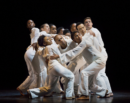 "Alvin Ailey American Dance Theater in Robert Butler's ""Awakening"" (photo by Paul Kolnik)"