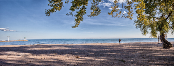 The Beach and Pier at Lakeview Park – photo © 2014 by Martha Weber & Andris Piebalgs.