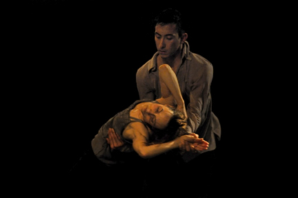 "Anne Plamondon & Peter Chu in ""A Picture of You Falling"" (photo by Michael Slobodian)"