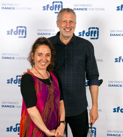 "Filmmakers Linda Arkelian & David Cooper, creators of ""Eclipse,"" at the 2015 San Francisco Dance Film Festival."
