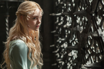 "Elle Fanning as Princess Aurora in""Maleficent"" - photo by Frank Connor (courtesy of Disney)"