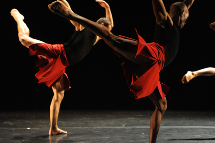 "Brodie Stevenson & Pulga Muchochoma in Toronto Dance Theater's ""Vena Cava"" (photo by Guntar Kravis)."