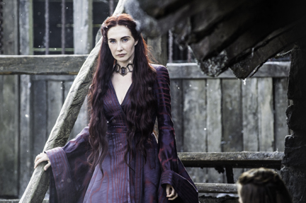 "Carice van Houten as Melisandre in ""Game of Thrones"" Season 5 (courtesy of HBO)."
