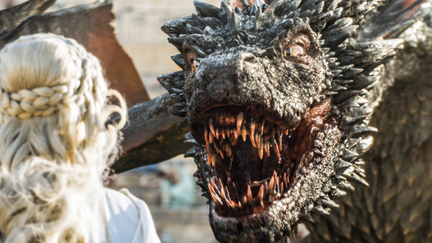 "Drogon and Daenerys in ""Game of Thrones"" Season 5 (courtesy of HBO)."