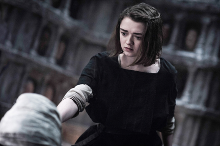 "Maisie Williams as Arya Stark in ""Game of Thrones"" Season 5 (courtesy of HBO)"